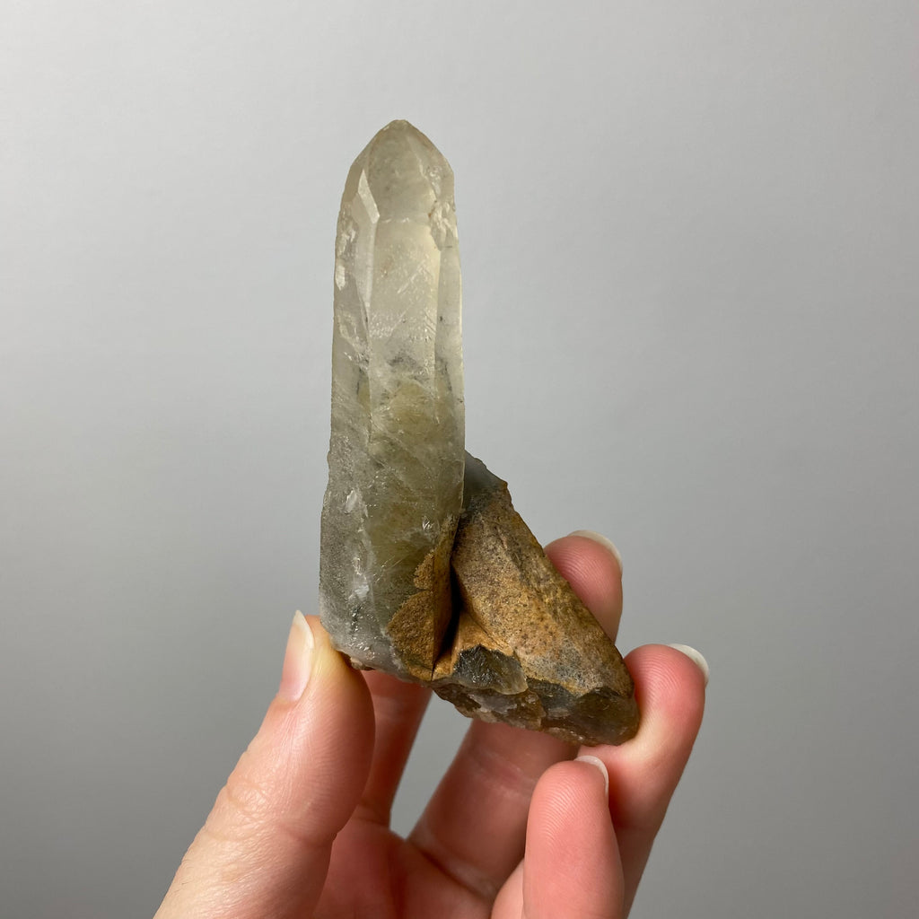 Double Terminated Elestial Clear Quartz Crystal