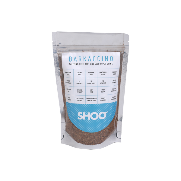 BARKACCINO: CAFFEINE-FREE ROOT AND SEED SUPER DRINK
