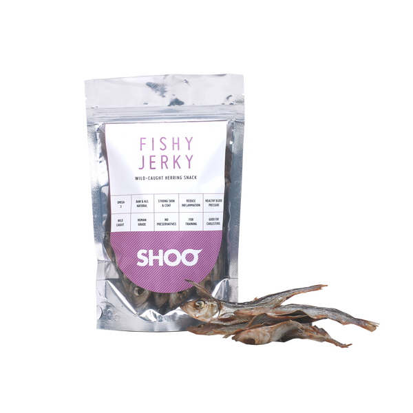 WILD-CAUGTH & GENTLY AIR-DRIED HERRING FISHY JERKY SNACK