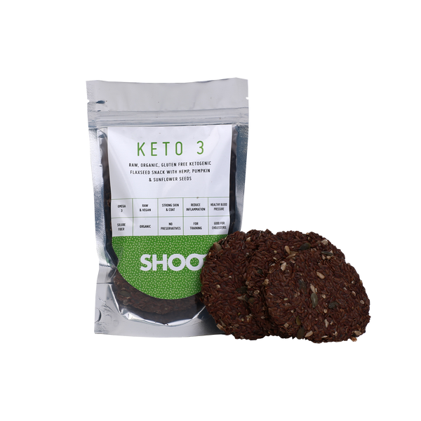 RAW, ORGANIC, GLUTEN FREE KETOGENIC FLAXSEED SNACK WITH HEMP, PUMPKIN & SUNFLOWER SEEDS