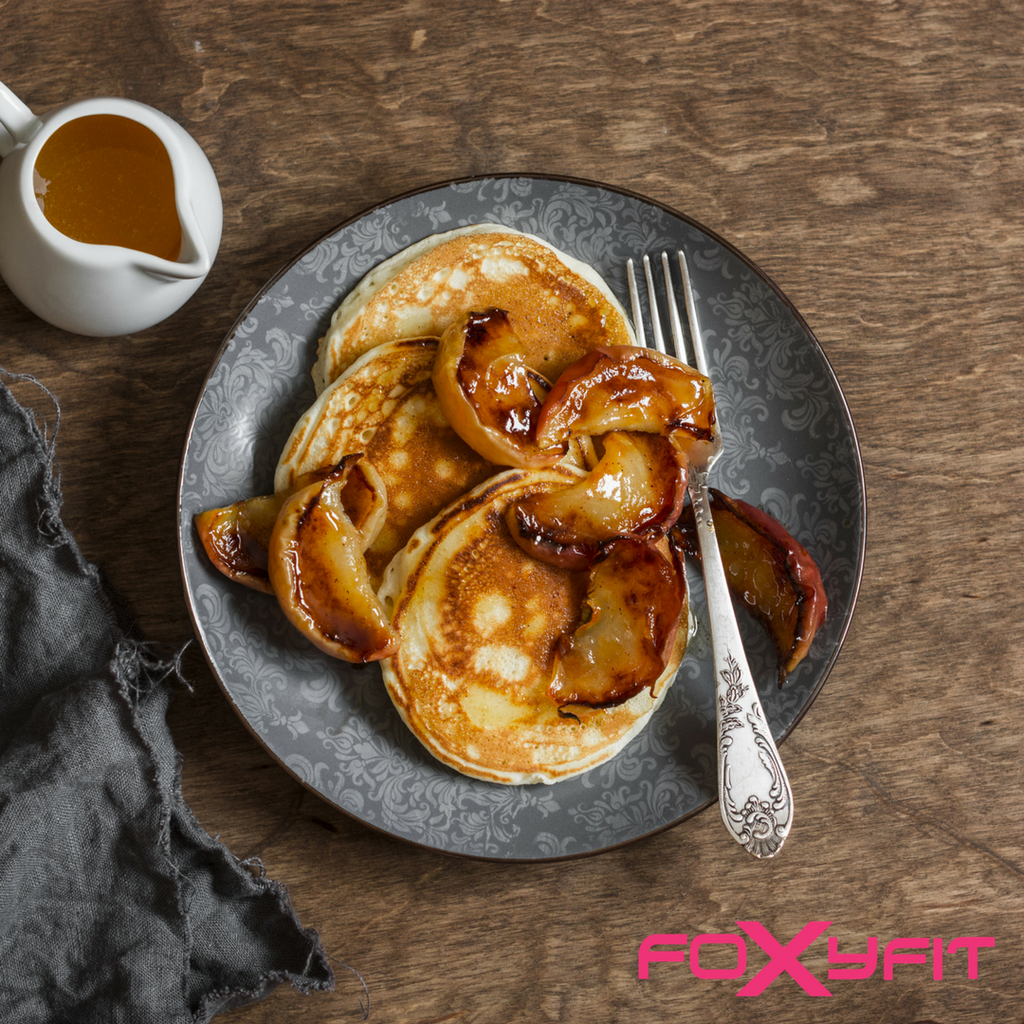 Apple Cinnamon Protein FOR HER Pancakes