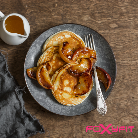 Foxy Fit Protein FOR HER Cinnamon Protein Pancakes Recipe