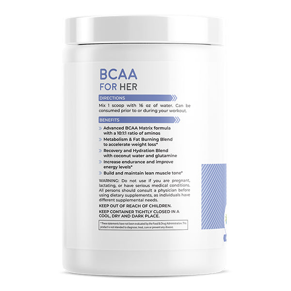FoxyFit BCAA For Her Benefits Side