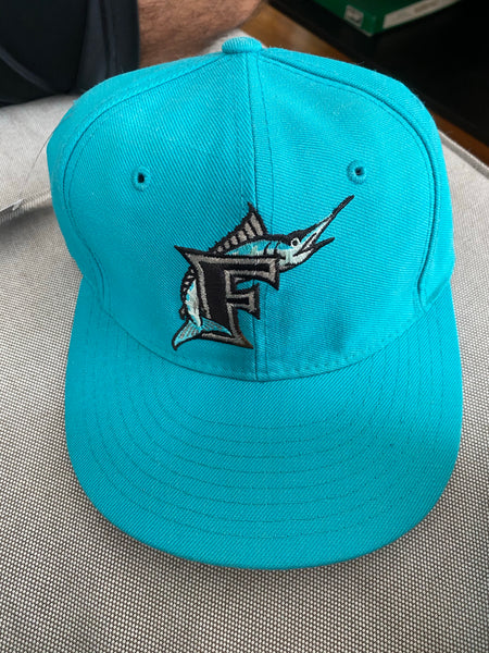 Marlins teal fitted 7 1/8
