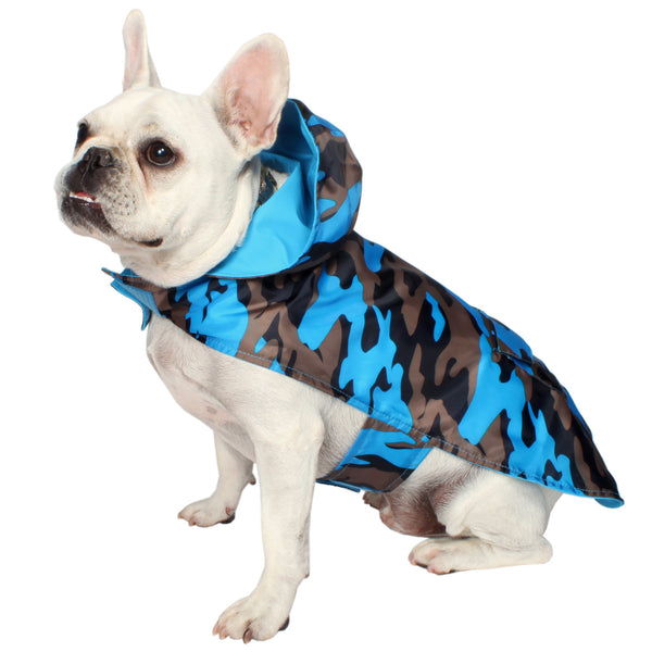 Camo Raincoat- Blue