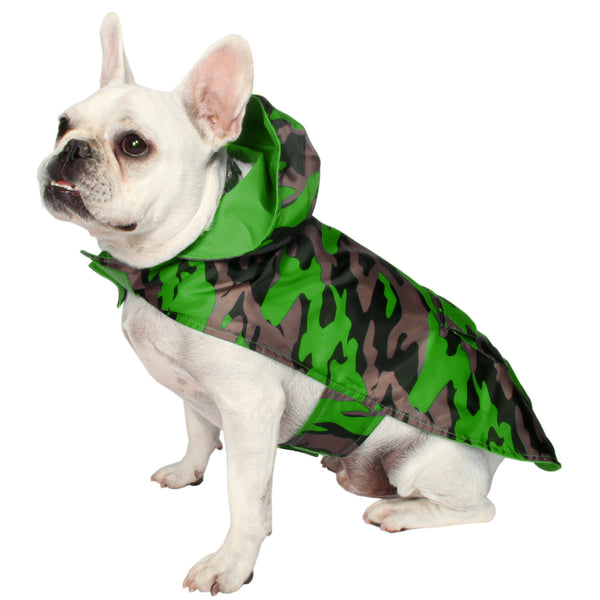 Camo Raincoat- Green