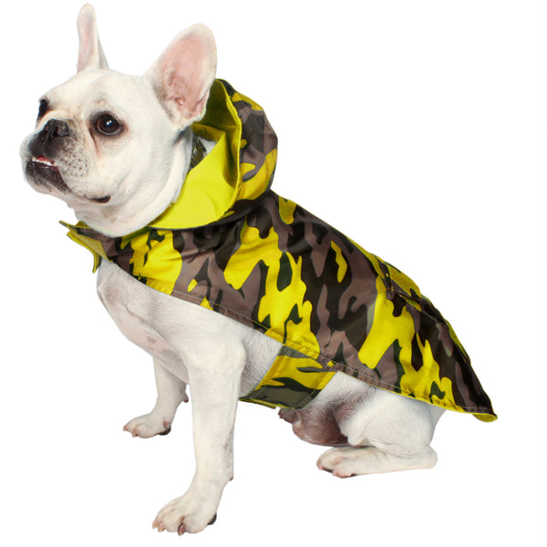 Camo Raincoat- Yellow