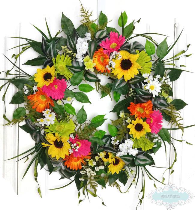 How to Make an Easy Everyday Summer Floral Grapevine Wreath