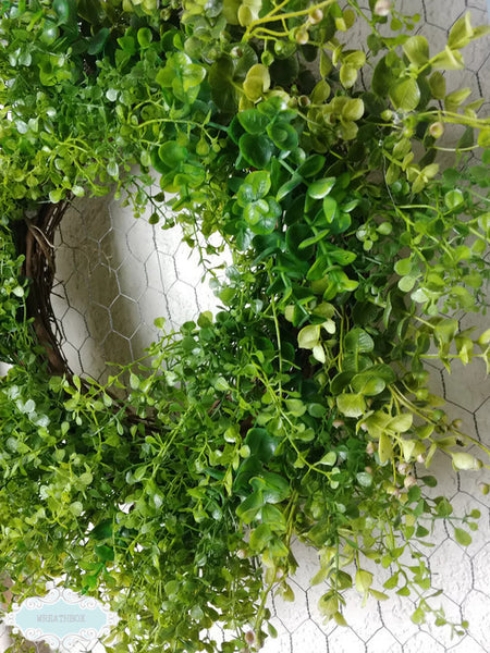 Rustic Farmhouse Boxwood Wreath Grapevine Everyday Wreath Mother's Day Wreath Decor