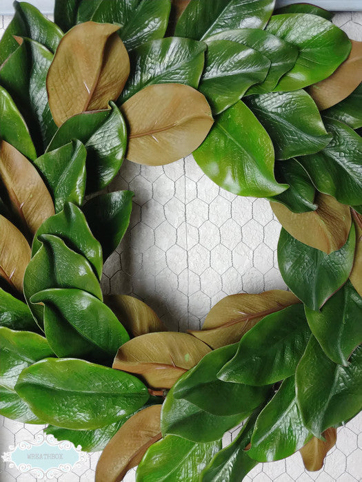 ... Magnolia Wreath Rustic Farmhouse Fixer Upper Wreath Front Door Decor ...