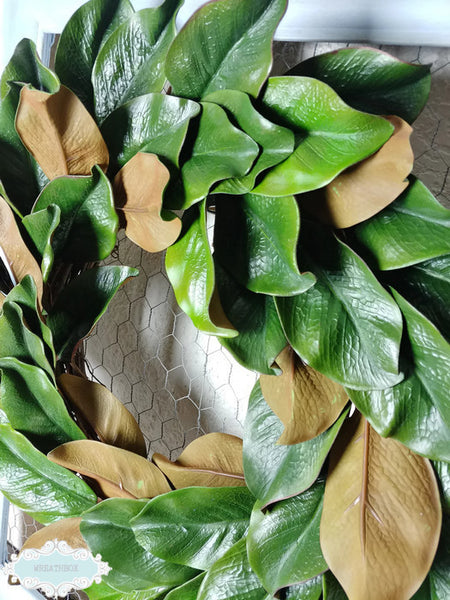 Magnolia Wreath Rustic Farmhouse Fixer Upper Wreath Front Door Decor