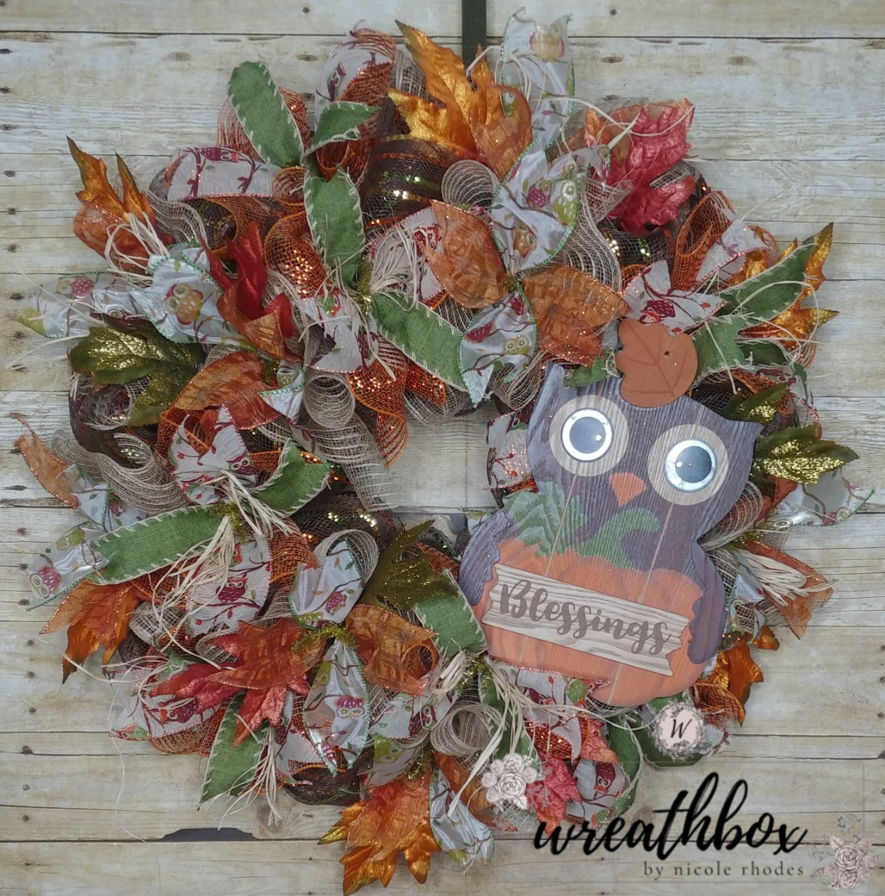 Fall Decorations Front Door Wreath Thanksgiving Farmhouse Decor
