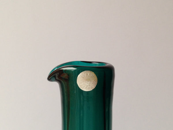 Nanny Still vase / bottle (99), emerald green with silver sticker