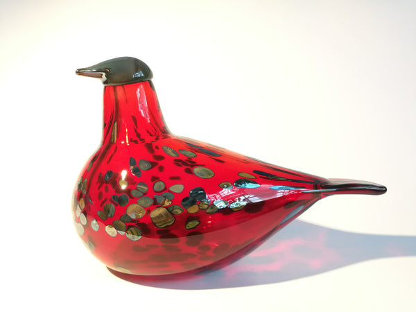 Ruby Bird red by Oiva Toikka Design glass Iittala Finland