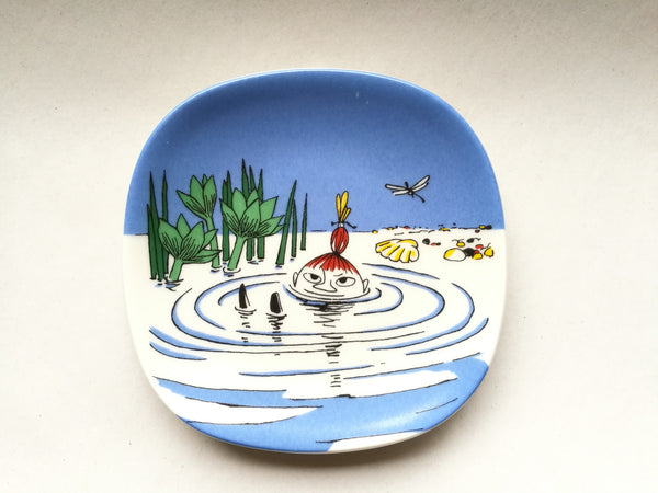 Moomin Wall Plate Little My Swims 1991-1994