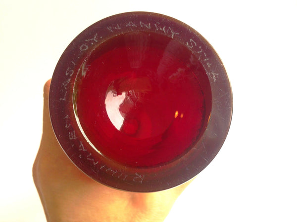 Nanny Still vase / bottle (Z), ruby red