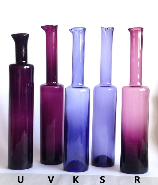 Nanny Still vase / bottle (R), dark and light purple