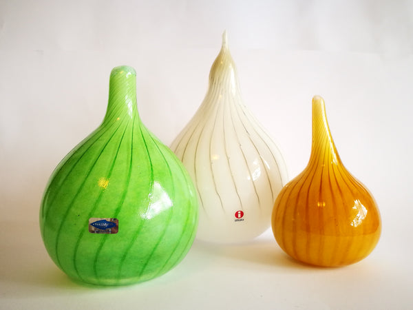 Oiva Toikka Fruits Onion Art glass Design Iittala Nuutajärvi Finland