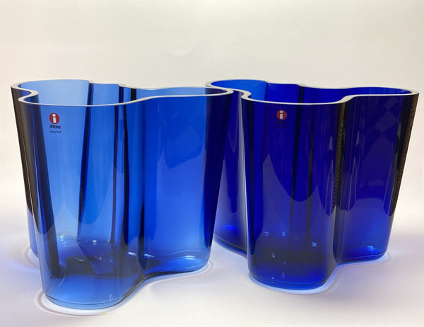 Alvar Aalto - Vases Recycled Grey and Special Recycled Blue ones 160mm  NEW