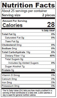 Nutrition Facts | THRIVE® Chocolate Oval-Shaped Xylitol Lollipops | Dr. John's Healthy Sweets