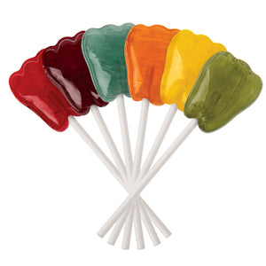 Classic Fruits Tooth Shaped Lollipops