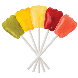 Fresh Fruit Tooth-Shaped Xylitol Lollipops | Dr. John's Healthy Sweets