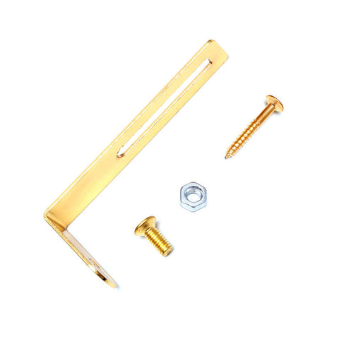 1PC Gold Pickguard mounting Bracket L Shape For LP Electric Guitar w Nut Screw Musical Instruments & Gear Guitar Parts
