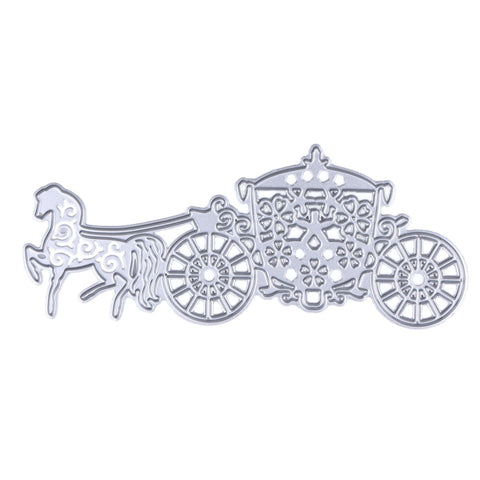 HOT Luxury Carriage Cutting Dies Stencils Art Embossing for DIY Scrapbooking Paper Card Album Photo Painting Metal Crafts