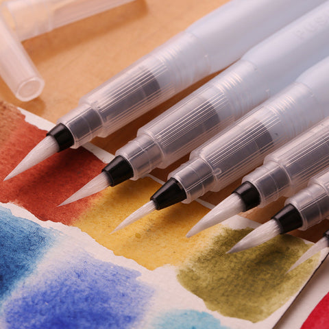 3 pcs/lot Water Piston Writing Watercolor Brush Art Markers 12cm Traditional Chinese Japanese Calligraphy Drawing Pen Beginner - ArtNation