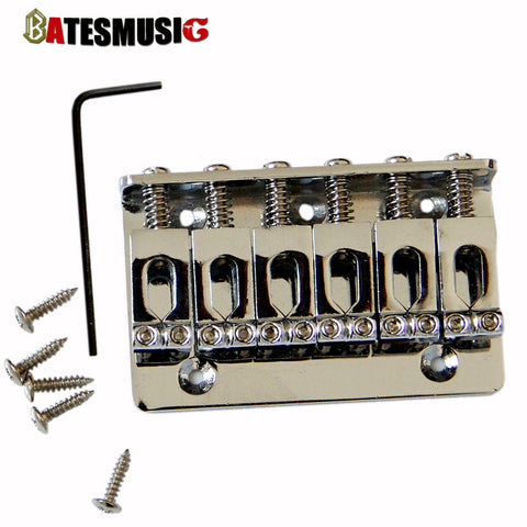 Musical Instruments parts chrome electric guitar tremolo 6 string roller guitar bridge With Screws - ArtNation