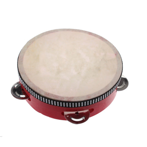 Toy Musical Instrument Hand Durm Educational Musical Instrument Mini Hand Drum Children Tambourine Red - ArtNation