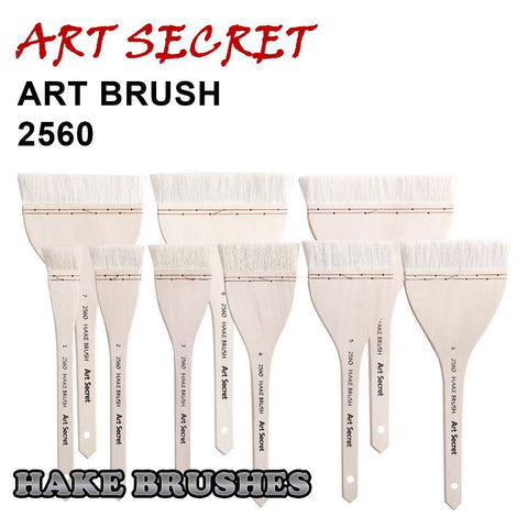 high quality paint art brushes tool fine goat hair hake brush 2560 long wooden handle