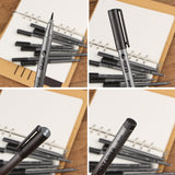 Black pigment liner set of 10 Art marker pen - ArtNation