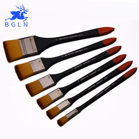 BGLN Nylon Flat Head Scrubbing Painting Brush Acrylic Painting Brush Oil Paint Wall Painting Brush Art Supplies - ArtNation