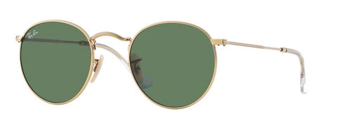 Ray Ban Round Metal in Shiny Gold