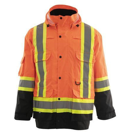 4-in-1 Hi Vis Safety Parka