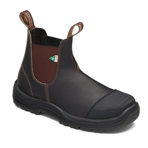 Blundstone 167 - Work & Safety Boot Rubber Toe Cap Stout Brown