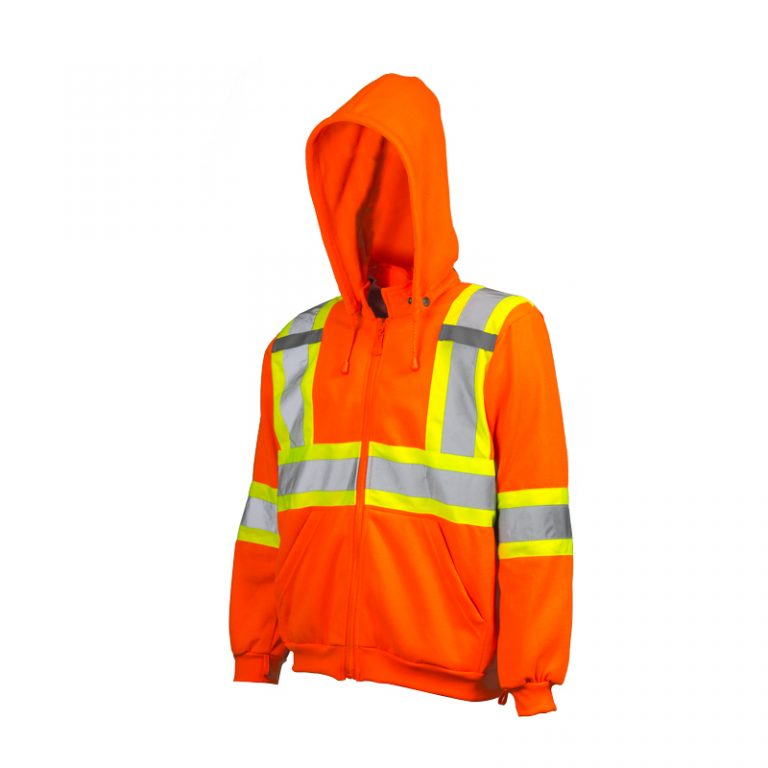 PIO Hi-Vis Traffic Hoodie with Detachable Hood