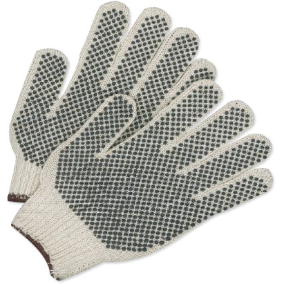 String knit (PVC dots) work gloves - worknwear.ca
