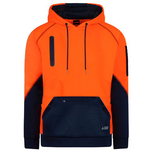 BAD Waterproof HI-VIZ Fleece Hoodie F1