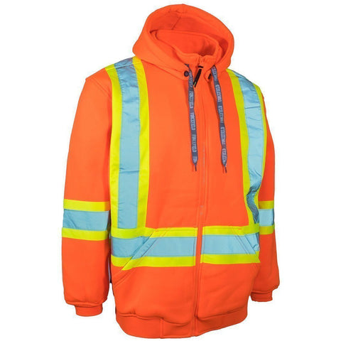 Forcefield Hi Vis Safety Hoodie, Detachable Hood 024-P844 - worknwear.ca