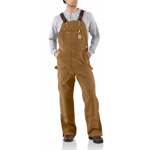 Carhartt Unlined Zip to Thigh Overall - worknwear.ca