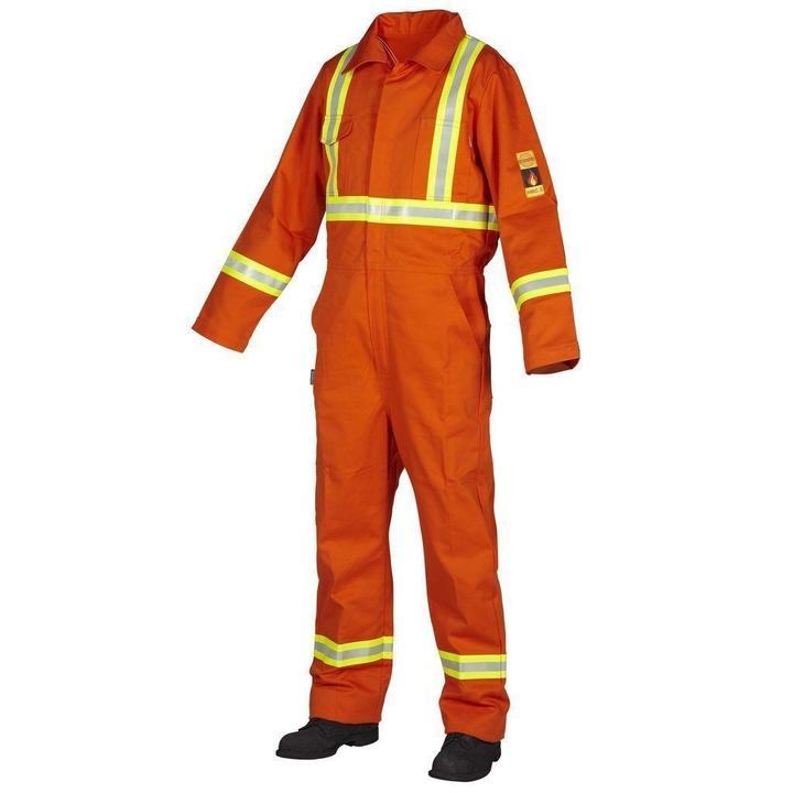 FR Treated 100% Cotton Coverall with Reflective Tape
