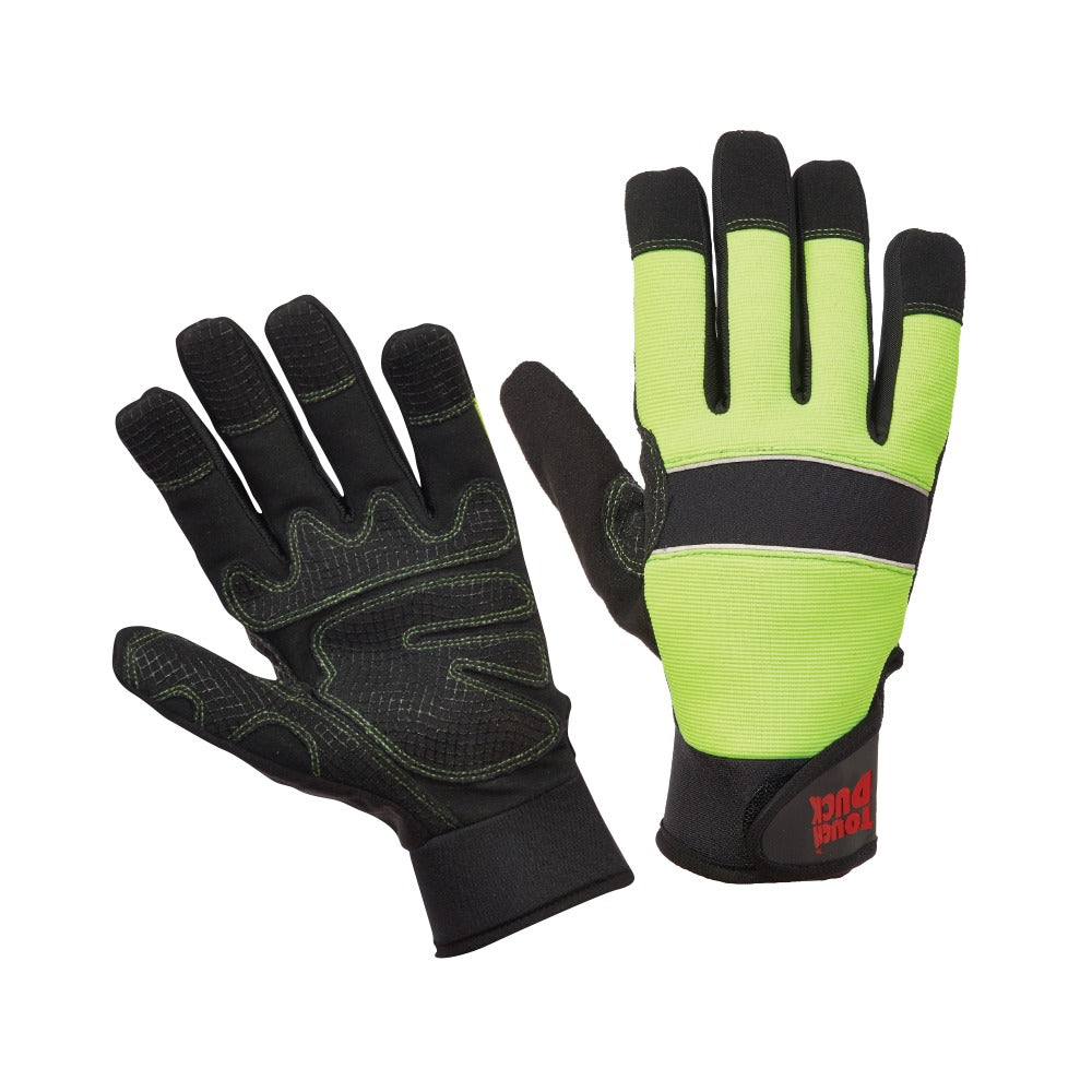 Tough Duck Hi-Vis Waterproof Gloves G79616 - worknwear.ca