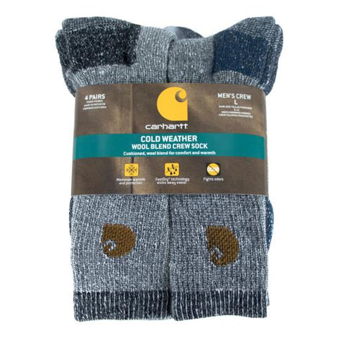 Carhartt Wool Blend Crew Socks A695 - worknwear.ca