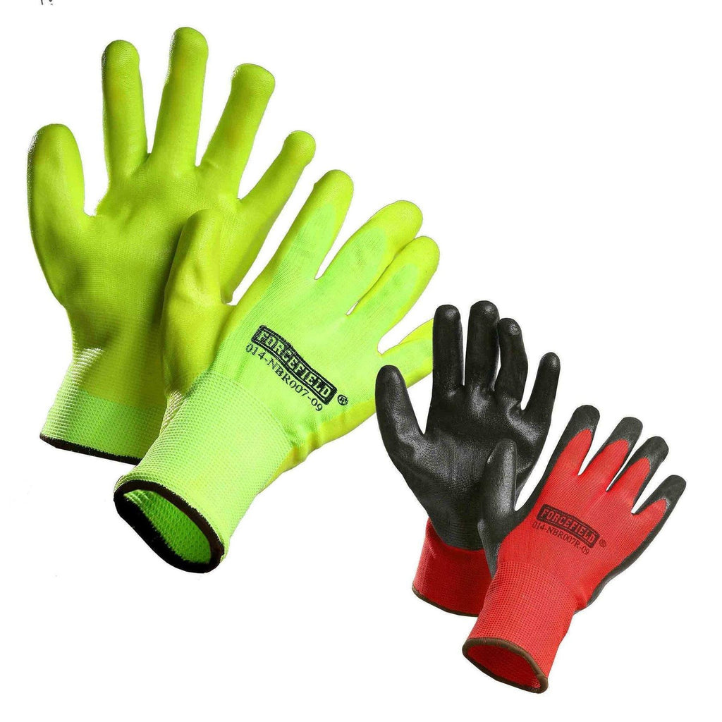 Winter Insulated Nitrile Palm Coated Work Gloves
