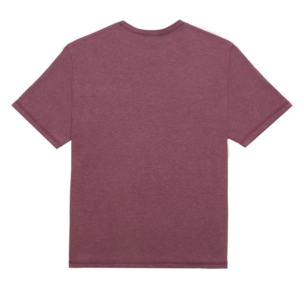 Collage Tee, Maroon Heather