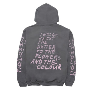 Flower and the Colour Hoodie, Grey