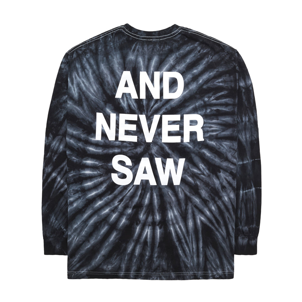 Never Saw Tie Dye T-Shirt, Black