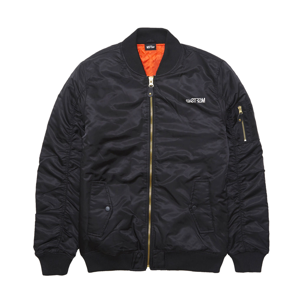 George Jeff Bomber Jacket, Black